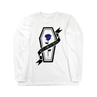【MOON SIDE】Rose Coffin Ver.2 #Black Blue ロングスリーブTシャツ
