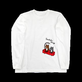 PokuStarのロング三色団子ロングスリーブTシャツ