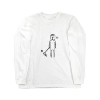 杵と臼のツーショット ロングスリーブTシャツ