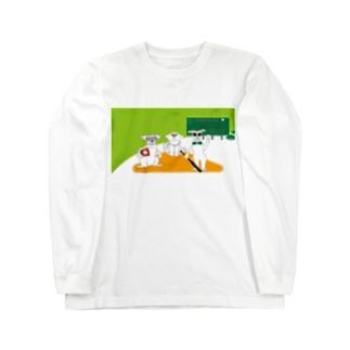 犬とベースボールのガンバgoods ロングスリーブTシャツ