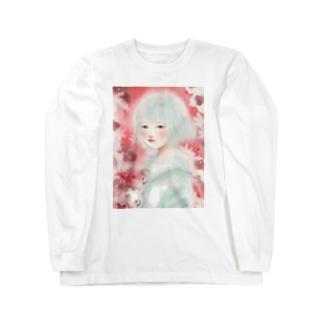 赤い春 ロングスリーブTシャツ