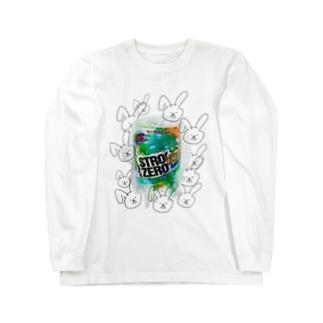 アル中子ウサギ ロングスリーブTシャツ