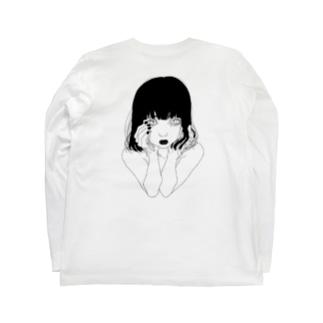 頬杖ガール Long sleeve T-shirts