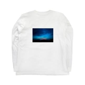 夕と夜の重なり Long sleeve T-shirts