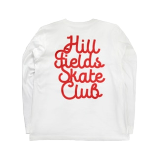 Hill Fields Skate Club_RED Long sleeve T-shirts