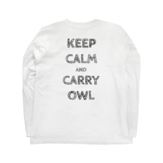 令和は静かにフクロウを据えて…keep calm and carry owl Long sleeve T-shirts