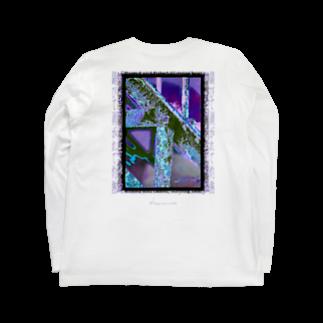 Kazumichi Otsubo's Souvenir departmentの錆びて剥がれて灼熱 ~ パープル Long sleeve T-shirtsの裏面