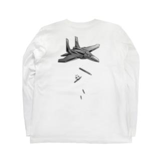クレイジー闇うさぎ(Fighter) Long sleeve T-shirts