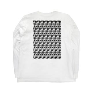 モノクロカオ Long sleeve T-shirts
