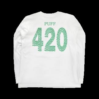 Plantyの420Tシャツ(背面) Long sleeve T-shirts