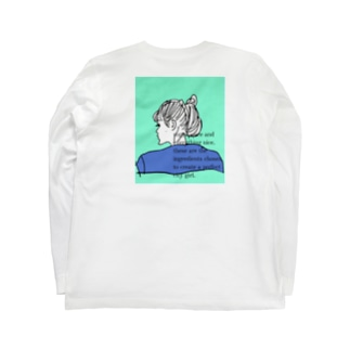 city girl/ blue Long sleeve T-shirts