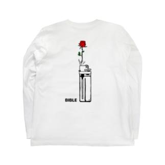 フラワーライター バックプリント Long sleeve T-shirts