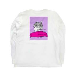 city girl/ pink Long sleeve T-shirts