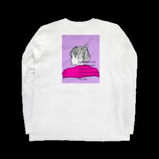 peachykeenのcity girl/ pink Long sleeve T-shirts