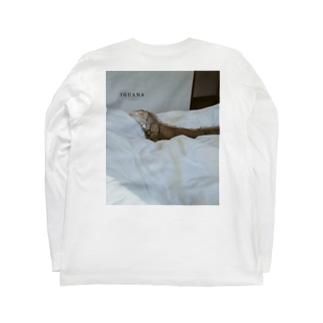 グリーンイグアナバックプリント Long sleeve T-shirts