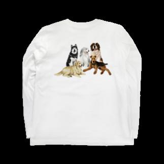 OOKIIINUの大きい犬たち Long sleeve T-shirtsの裏面
