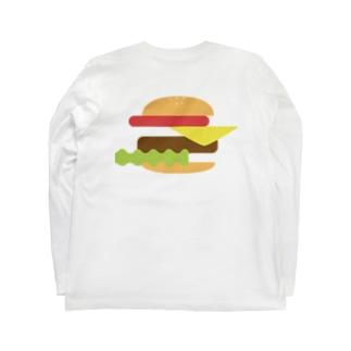 ハンバーガー 単品 Long sleeve T-shirts