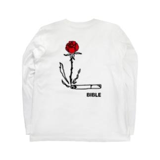 smoke flower バックプリント Long sleeve T-shirts