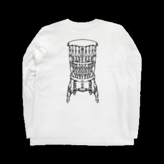 ScapegoatのDead Man's Chair-Memento Mori(淡色向け) Long sleeve T-shirts