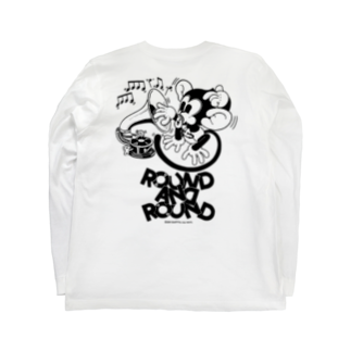 Booty the baby baboonのROUND AND ROUND BOOTY Long sleeve T-shirts