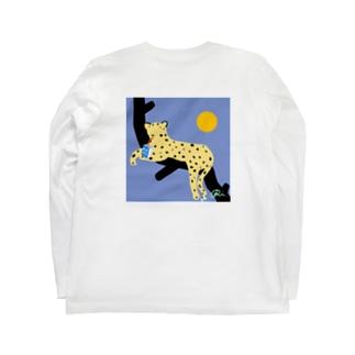 狩りが苦手なチーター Long sleeve T-shirts