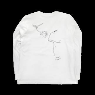 yunoの薔薇の香り Long sleeve T-shirtsの裏面