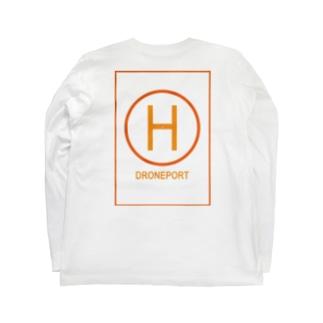 ドローンポートオレンジイエロー Long sleeve T-shirts