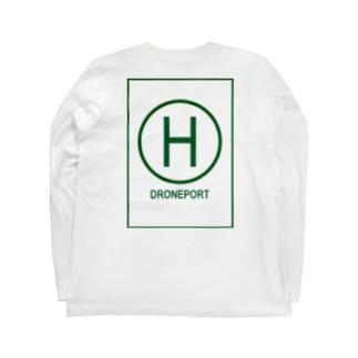 ドローンポートグリーン Long sleeve T-shirts