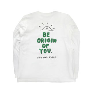 ORIGIN.の originT green2 Long sleeve T-shirtsの裏面