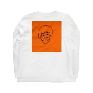リアルタッチ顔面こちま Long sleeve T-shirts