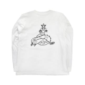 おしり干支シリーズ_辰ver. Long sleeve T-shirts