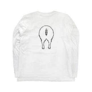 おしり干支シリーズ_亥ver. Long sleeve T-shirts