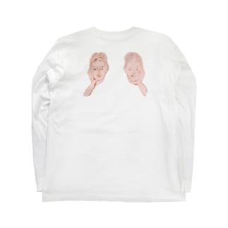 頬杖ガールズ Long sleeve T-shirts