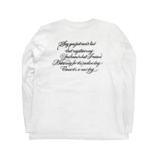 タトゥー風英文シリーズ Long sleeve T-shirts