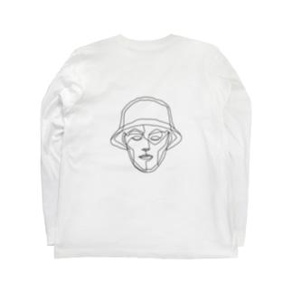 我的朋友ロンT -monokuro- Long sleeve T-shirts