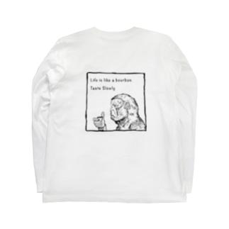 Drinking Monkey 酒飲みザル Long sleeve T-shirts