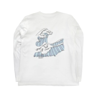 the great wave Long sleeve T-shirts