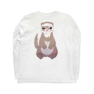 フェレットシャンペン Long sleeve T-shirts