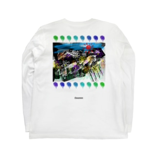 ooomm - ロングスリーブTシャツ(社会風刺series vol.1) Long sleeve T-shirts