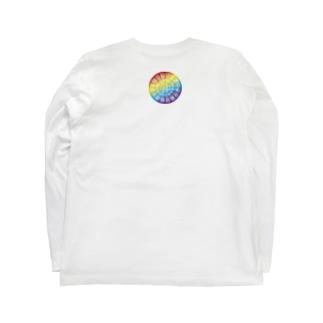 背中守り龍体文字フトマニ図 Long sleeve T-shirts