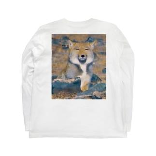 チベットスナギツネ ! Long sleeve T-shirts