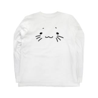 うにゃーん(背面) Long sleeve T-shirts