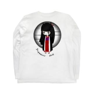 japanese doll Back print Long sleeve T-shirts
