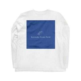 ケンタッキーピクニックフィールド 青 Long sleeve T-shirts