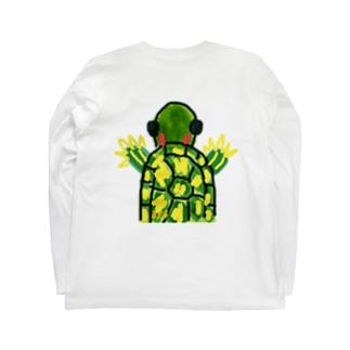 アカミミガメ Long sleeve T-shirts