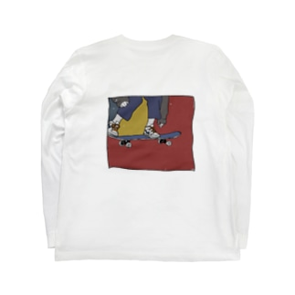 スケボー少年 Long sleeve T-shirts