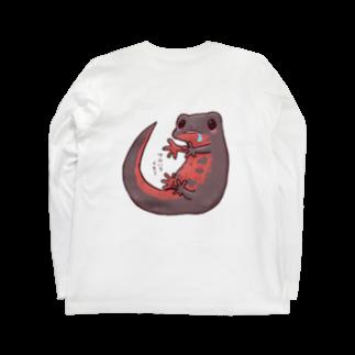 藍色Zooのはらぺこアカハライモリ Long sleeve T-shirts
