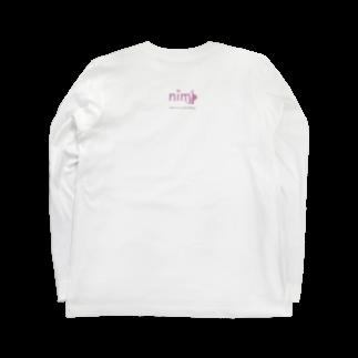 妊婦に優しく。nimpの新しい命に優しい世界。nimp Long sleeve T-shirts