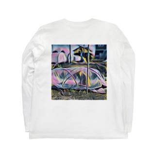ビニールハウスねこ Long sleeve T-shirts