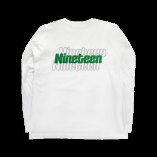 Nineteen©︎のNineteen©︎ Logo typeA  Long sleeve T-shirts